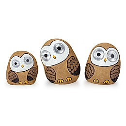 Destination Summer Solar Owl Family Lights (Set of 3)
