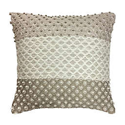 Destination Summer Greige Popcorn Square Outdoor Throw Pillow