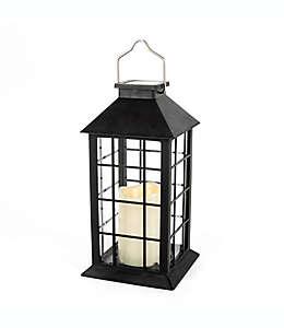 Lámpara solar de LED para exteriores, 27.94 cm en negro
