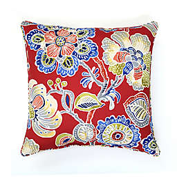 Destination Summer Print Indoor/Outdoor 17-Inch Square Throw Pillow