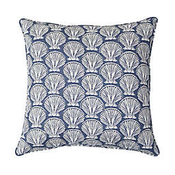 Destination Summer Seashell 17-Inch Square Indoor/Outdoor Throw Pillow in Grey