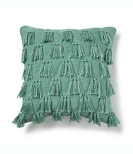 Cojín decorativo cuadrado Destination Summer para interiores/exteriores en verde azulado