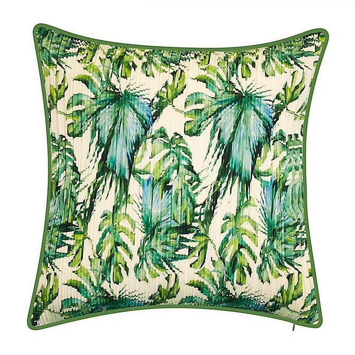 Alternate image 1 for Nature Leaf Square Indoor/Outdoor Throw Pillow in Ivory