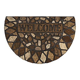 Mohawk Home Stone City Recycled Rubber Doormat Slice in Brown