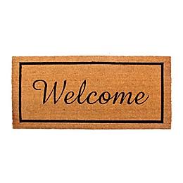 """Welcome Estate 22"""" x 47"""" Coir Door Mat"""