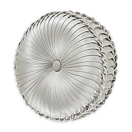 J. Queen New York™ Eleanora 15-Inch Round Throw Pillow in Silver