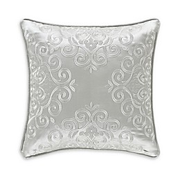 J. Queen New York™ Eleanora Square Throw Pillow in Silver