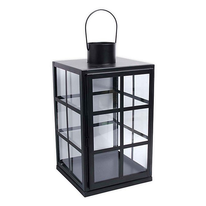 Alternate image 1 for Bee & Willow™ Indoor Decorative Lantern Candle Holder in Black