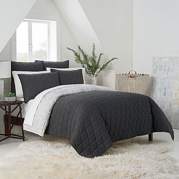 Alternate image 1 for UGG® Terra Reversible Twin Quilt in Charcoal