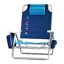 Nautica® 5-Position Logo Beach Chair in Navy
