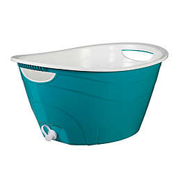 CreativeWare™ Double-Walled Party Tub in Blue with Drain