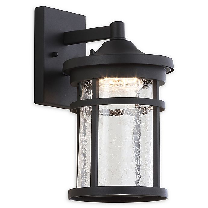 Alternate image 1 for JONATHAN Y Campo Outdoor Wall Lantern Sconce Light in Black with Glass Shade