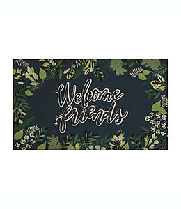 "Mohawk Home® Tapete para entrada con frase ""Welcome friends"", 45.72 x 76.2 cm"