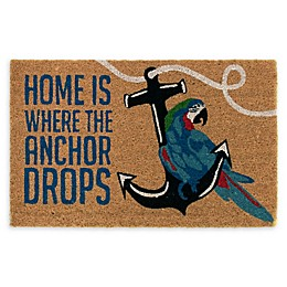 "Margaritaville® ""Home is Where the Anchor Drops"" Door Mat in Natural"