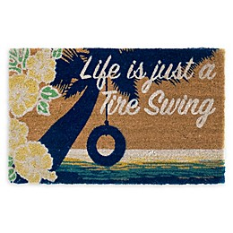 "Margaritaville® ""Life is Just a Tire Swing Door Mat in Natural"