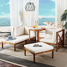 Safavieh Ronson 5-Piece Outdoor Sectional in Natural/Beige