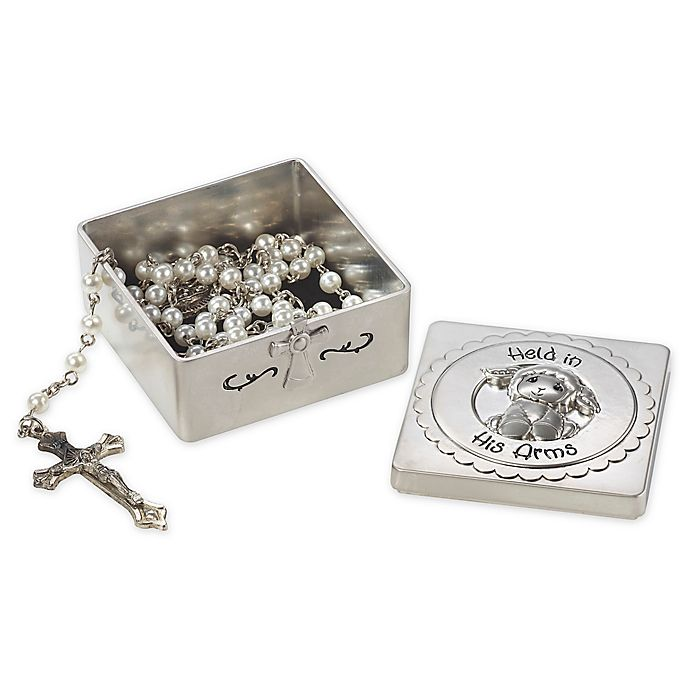 Alternate image 1 for Precious Moments® 2-Piece Baptism Box with Rosary