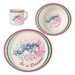 Precious Moments® 3-Piece Toddler Unicorn Dinnerware Set
