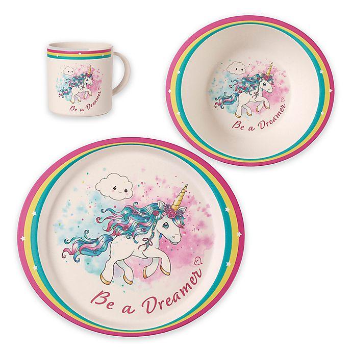Alternate image 1 for Precious Moments® 3-Piece Toddler Unicorn Dinnerware Set