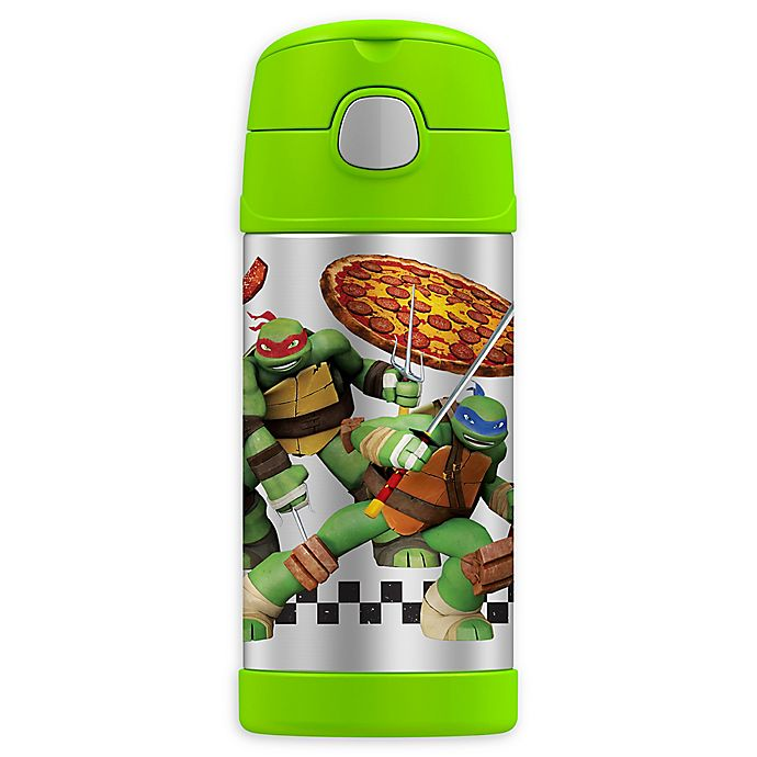 Alternate image 1 for Thermos® FUNtainer® Teenage Mutant Ninja Turtles 12 oz. Bottle with Straw in Green
