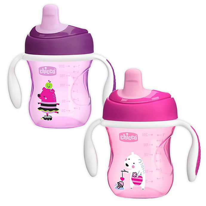 Alternate image 1 for Chicco® 2-Pack 7 oz. First Spout Trainer Sippy Cup