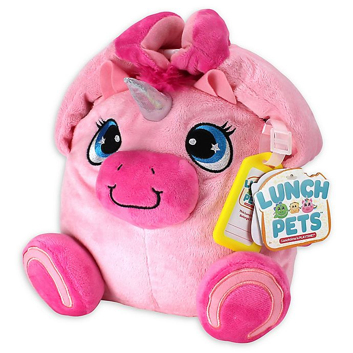 Alternate image 1 for Lunch Pets ™ Yumicorn 10-Inch Plush Animal Lunch Box