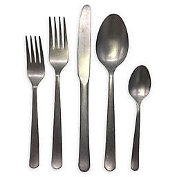 Oslo 5-Piece Place Setting in Tumbled Stainless Steel