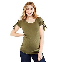 Motherhood Maternity® Knot Shoulder Maternity T-Shirt