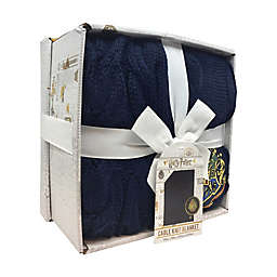 Harry Potter™  Knitted Blanket in Blue with Gift Box