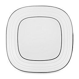 Mikasa® Swirl Square Banded 10-3/4-Inch White Dinner Plate