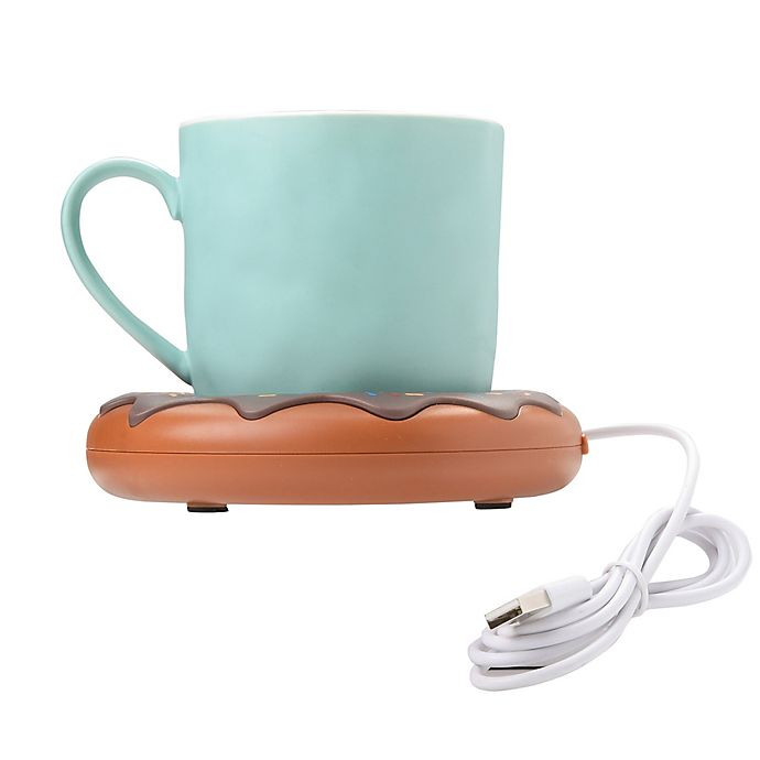 Alternate image 1 for Donut USB Mug Warmer in Brown