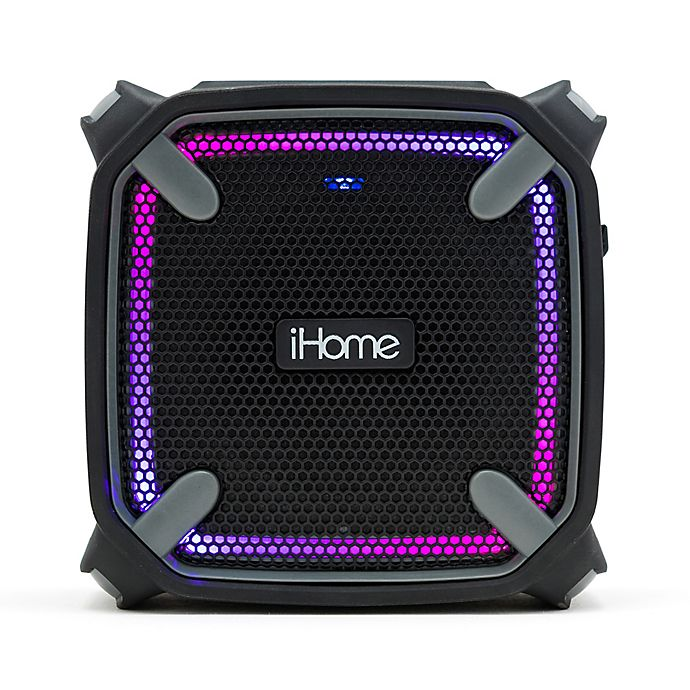 Alternate image 1 for iHome™ Weather Tough™ Portable Rechargeable Bluetooth Speaker in Black