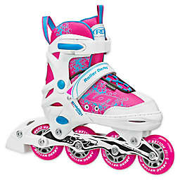 ION 7.2 Girl's Adjustable Inline skates in White/Pink