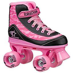 FireStar Youth Roller Derby Size 12 Quad Roller Skates in Pink