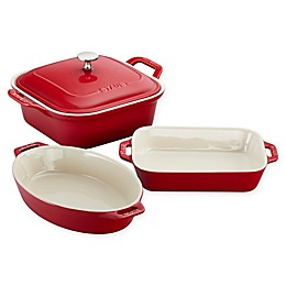 Staub Ceramics 4-Piece Baking Dish Set in Cherry