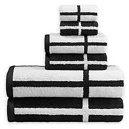 Landon 6-Piece Towel Set in Black/White