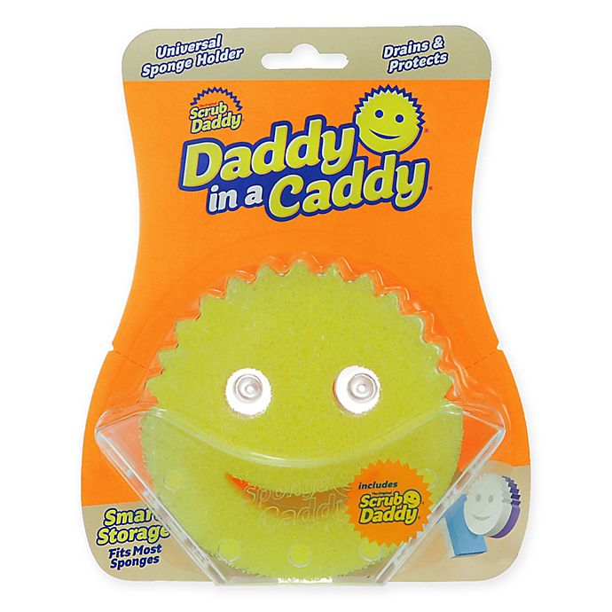 Alternate image 1 for Scrub Daddy® 2-Piece Daddy in a Caddy in Yellow