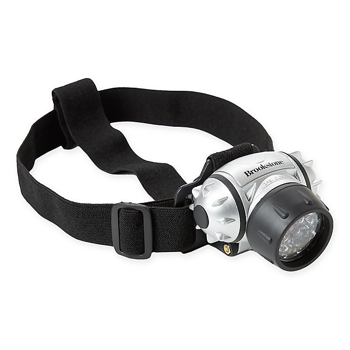 Alternate image 1 for Brookstone® 21-LED Headlamp in Black