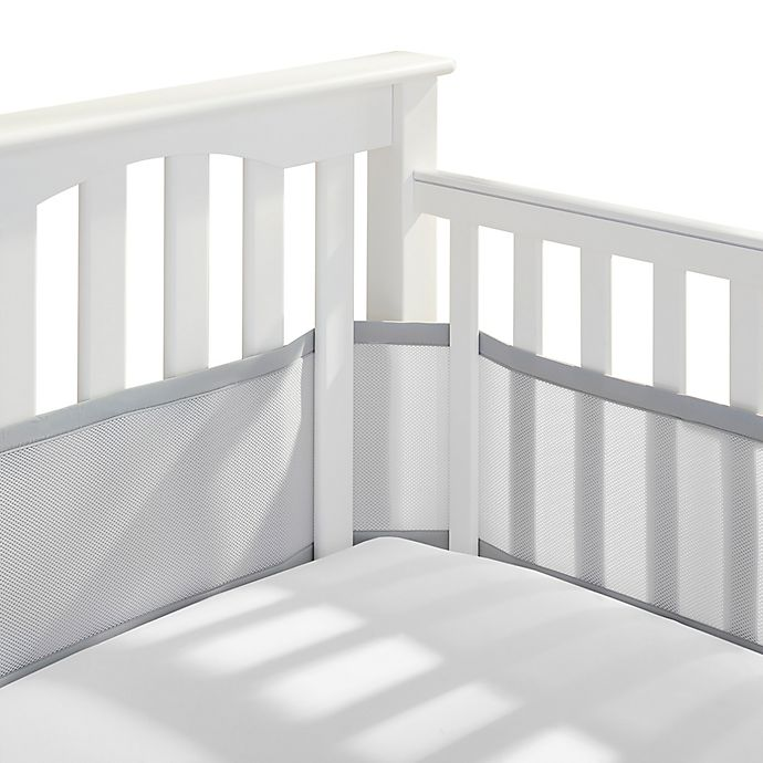 Alternate image 1 for BreathableBaby® Mix & Match Breathable Mesh Crib Liner in Grey Mist