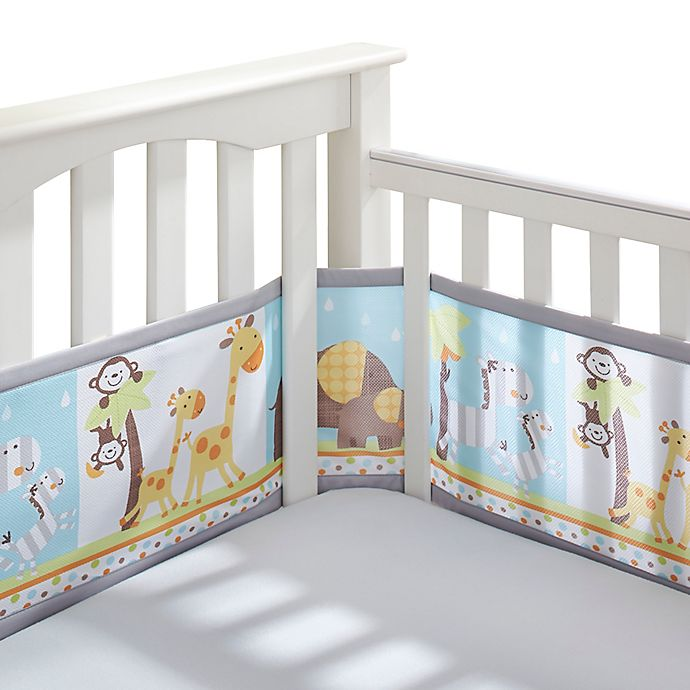 Alternate image 1 for BreathableBaby® Mix & Match Breathable Mesh Crib Liner in 2 By 2 Safari
