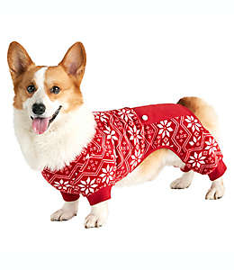 Pijama mediana para perro Fair Isle Bee & Willow™ Home en rojo