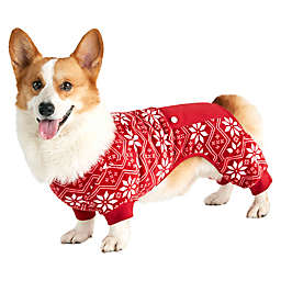 Bee & Willow™ Home Fair Isle Printed Dog Pajamas in Red