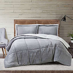 Truly Soft® Cuddle Warmth 3-Piece King Comforter Set in Grey