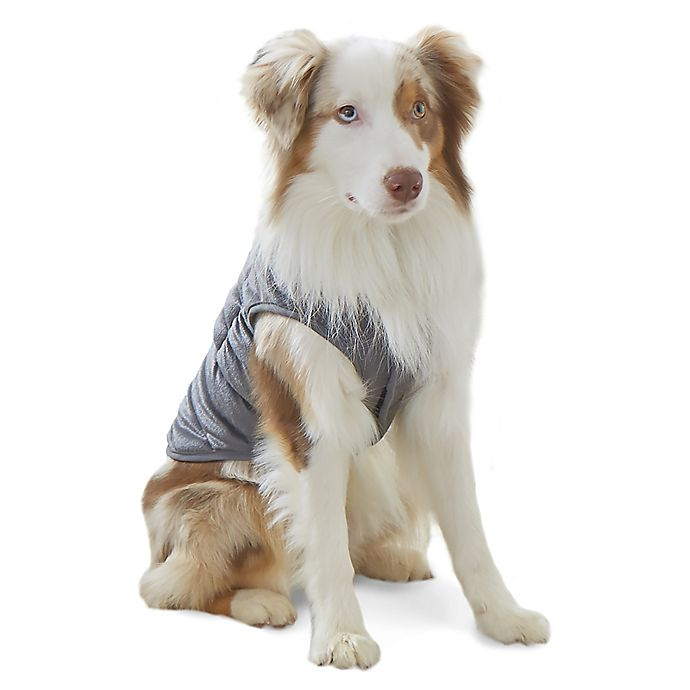 Alternate image 1 for Therapedic® Weighted Pet Vest in Grey