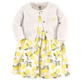 Hudson Baby® 2-Piece Lemon Dress and Cardigan Set in Yellow