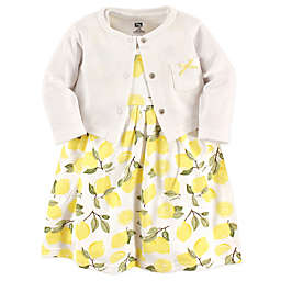Hudson Baby® 2-Piece Lemon Dress and Cardigan Set in Yellow