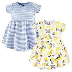 Hudson Baby® 2-Pack Lemons Casual Dress in Yellow/Blue