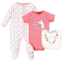Little Treasure 3-Piece Tassel Necklace Layette Set in Pink