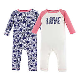 Touched by Nature 2-Pack Daisy Organic Cotton Coveralls