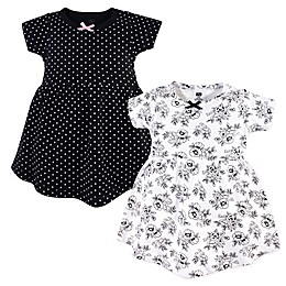 Hudson Baby® 2-Pack Toile Dresses in Black